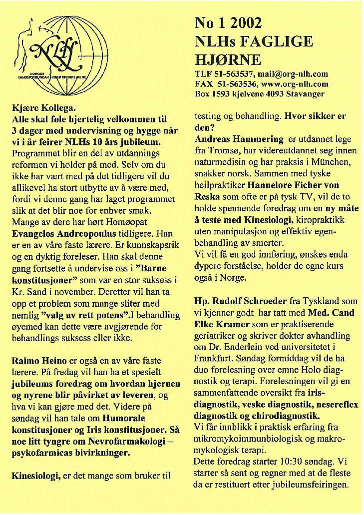 Faglig Hjørne nr. 1-2002