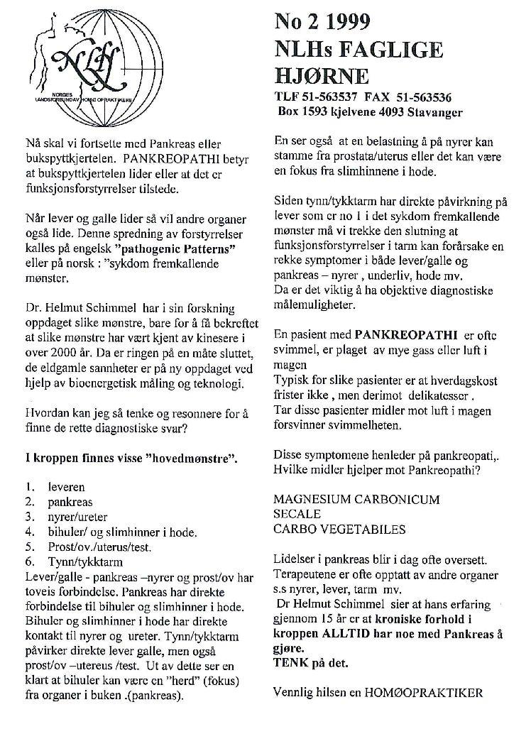 Faglig Hjørne nr. 2-1999