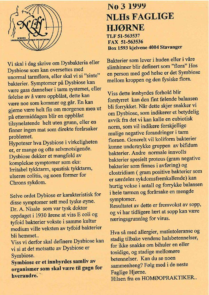 Faglig Hjørne nr. 3-1999