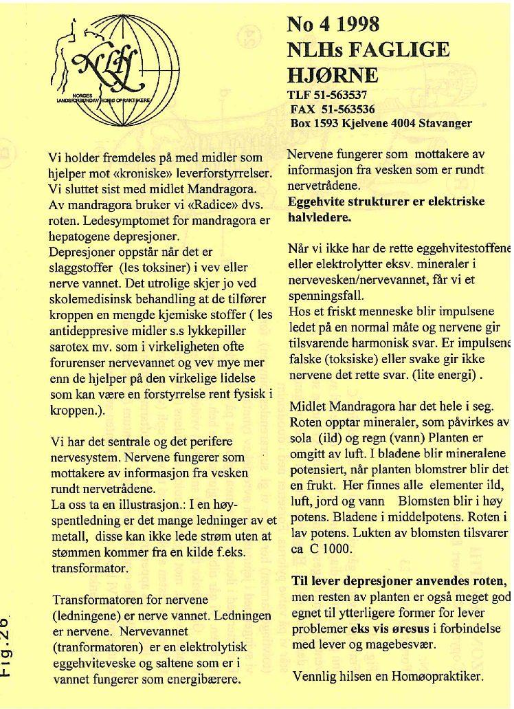 Faglig Hjørne nr. 4-1998