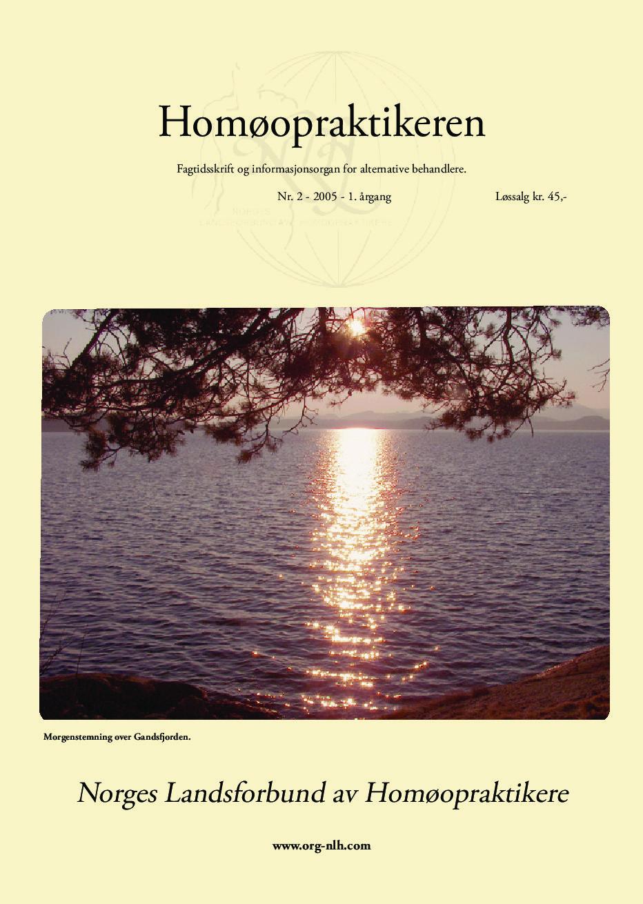 Homøopraktikeren nr. 2-2005