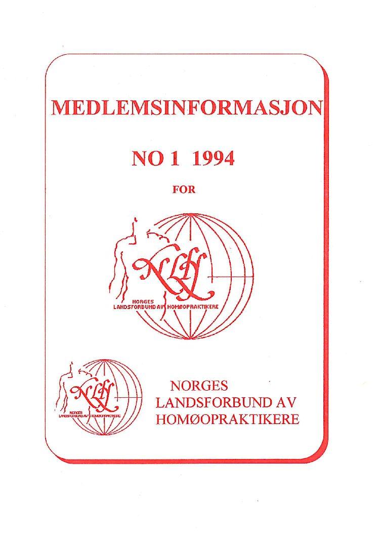 Medlemsinfo nr. 1-1994