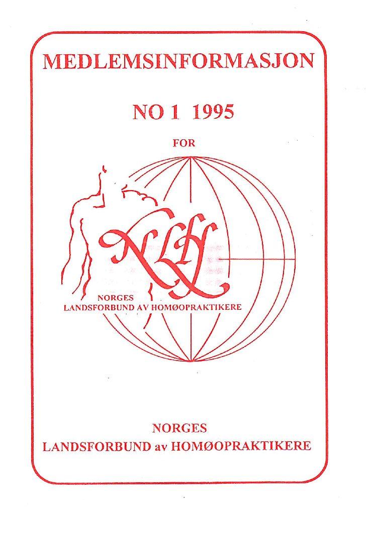 Medlemsinfo nr. 1-1995