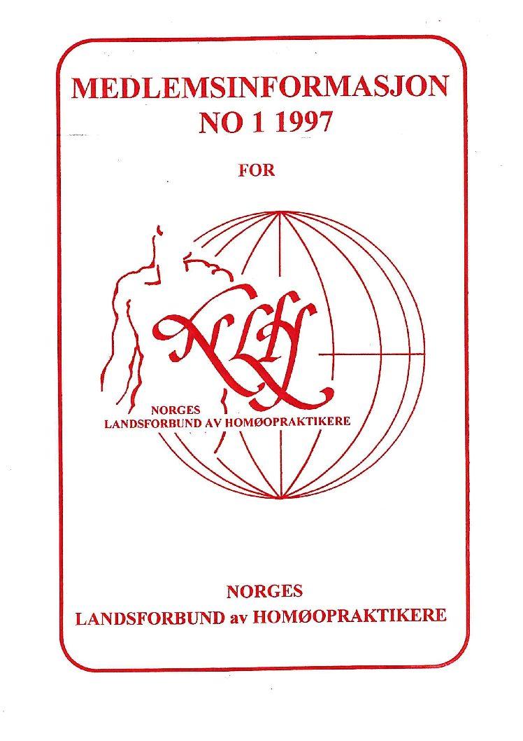 Medlemsinfo nr. 1-1997