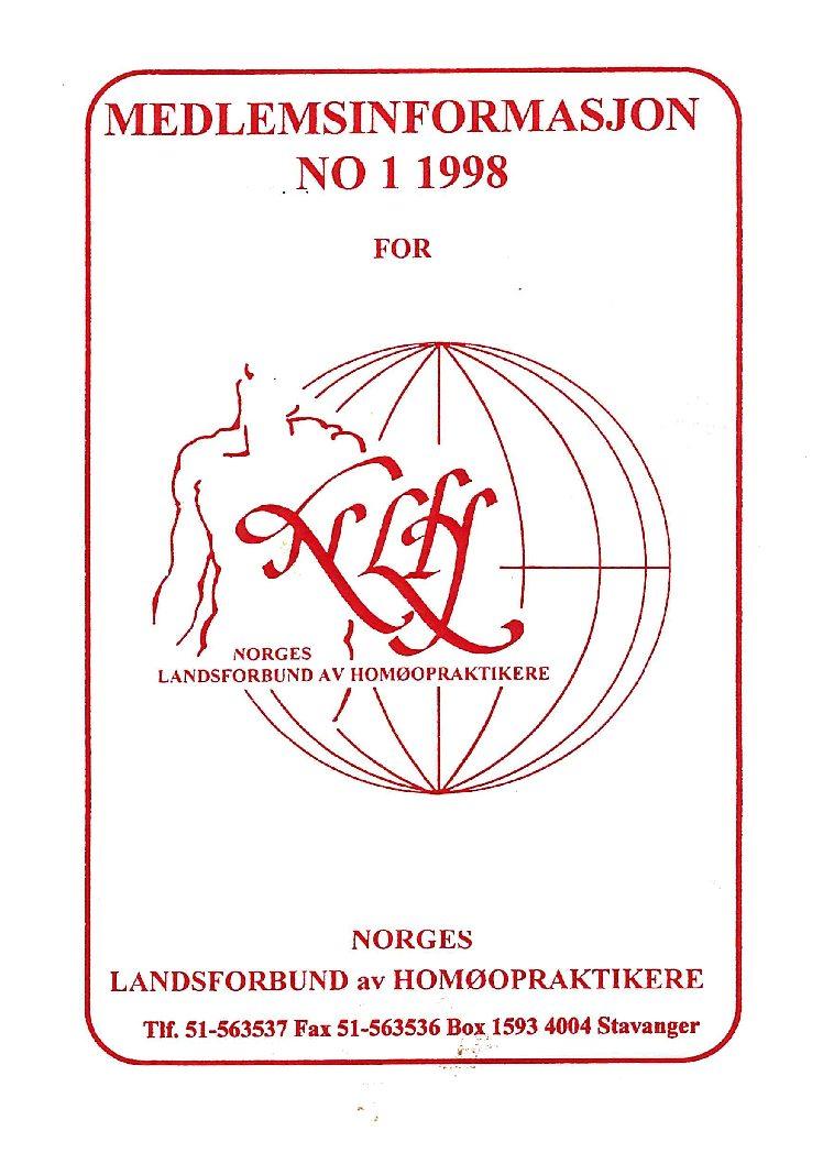 Medlemsinfo nr. 1-1998