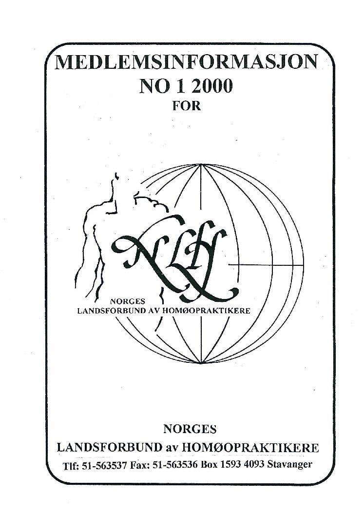 Medlemsinfo nr. 1-2000
