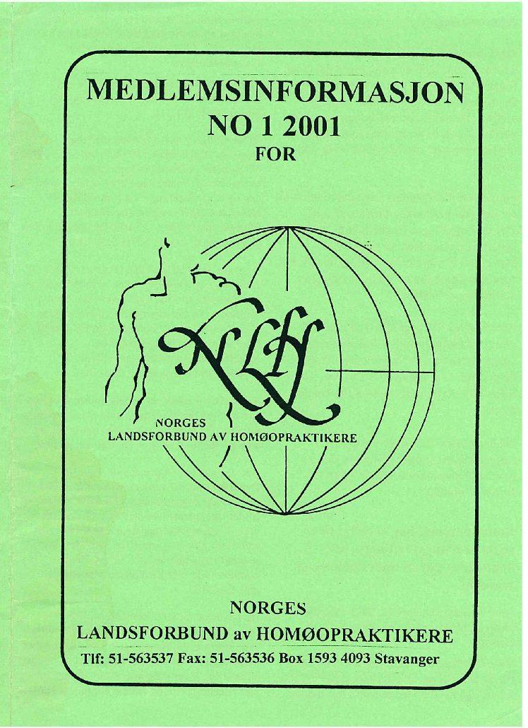 Medlemsinfo nr. 1-2001
