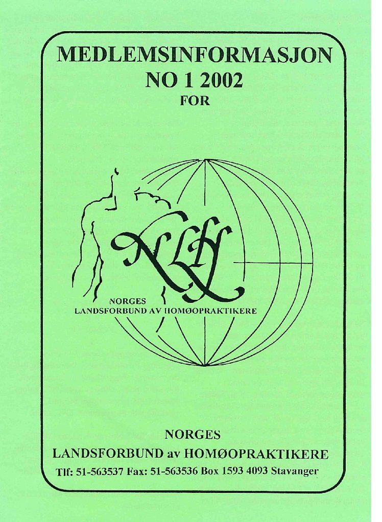 Medlemsinfo nr. 1-2002