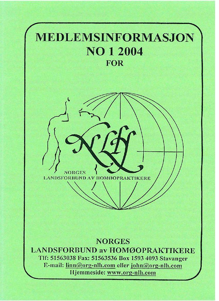 Medlemsinfo nr. 1-2004