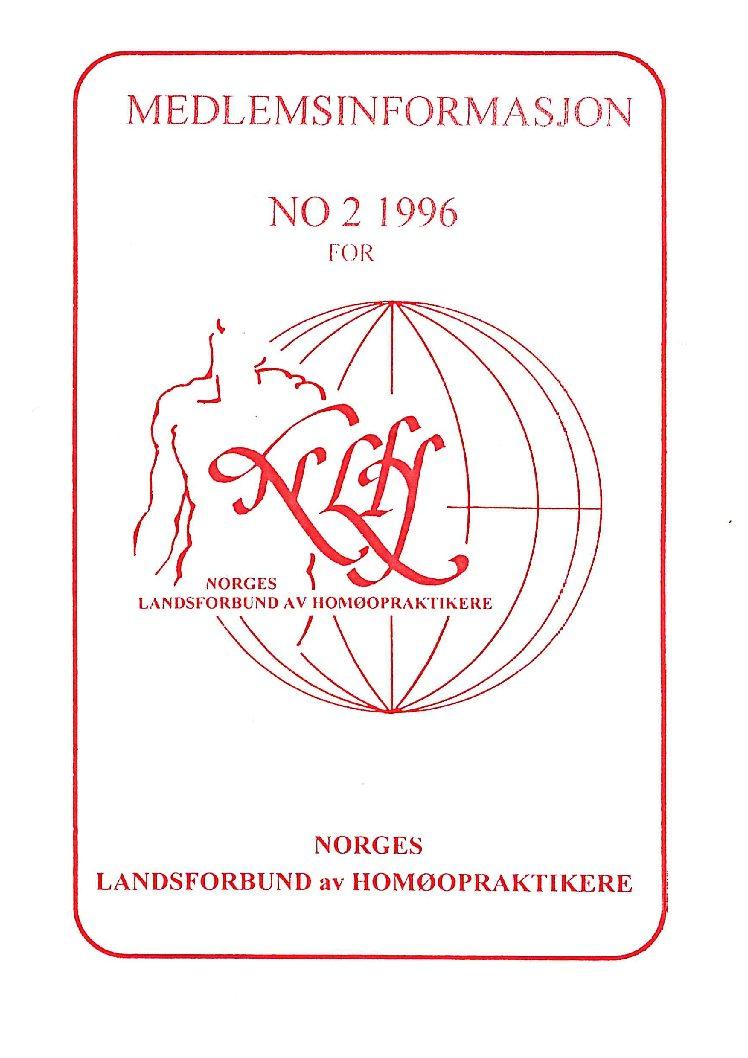 Medlemsinfo nr. 2-1996