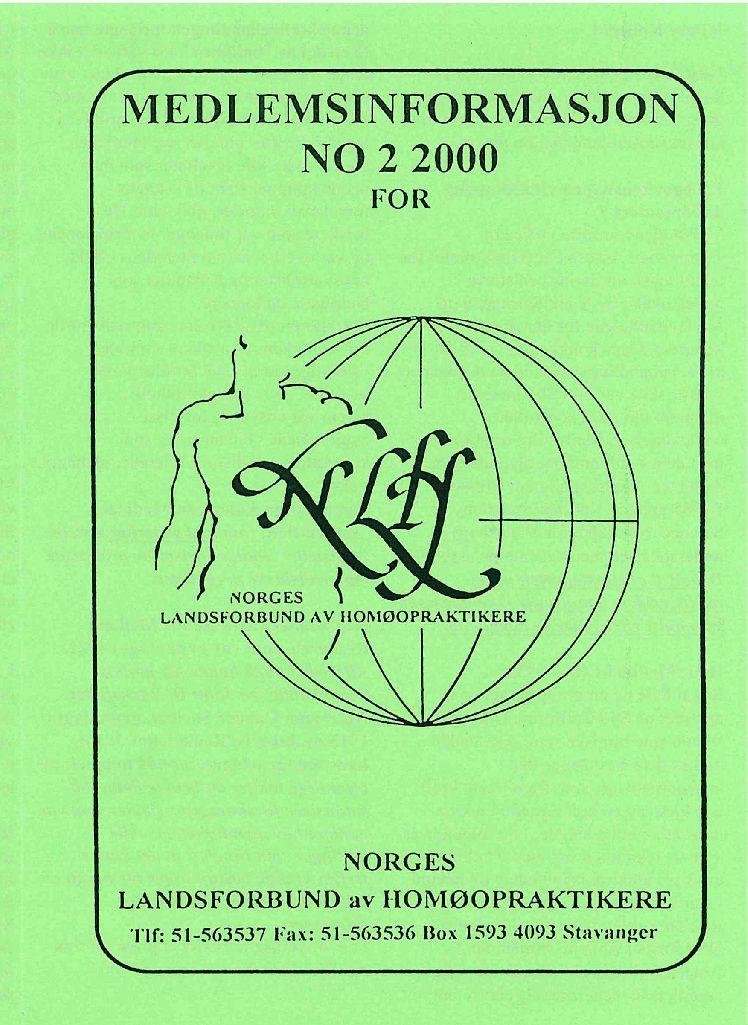 Medlemsinfo nr. 2-2000