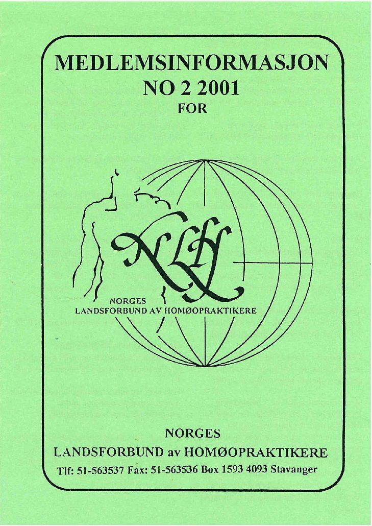 Medlemsinfo nr. 2-2001
