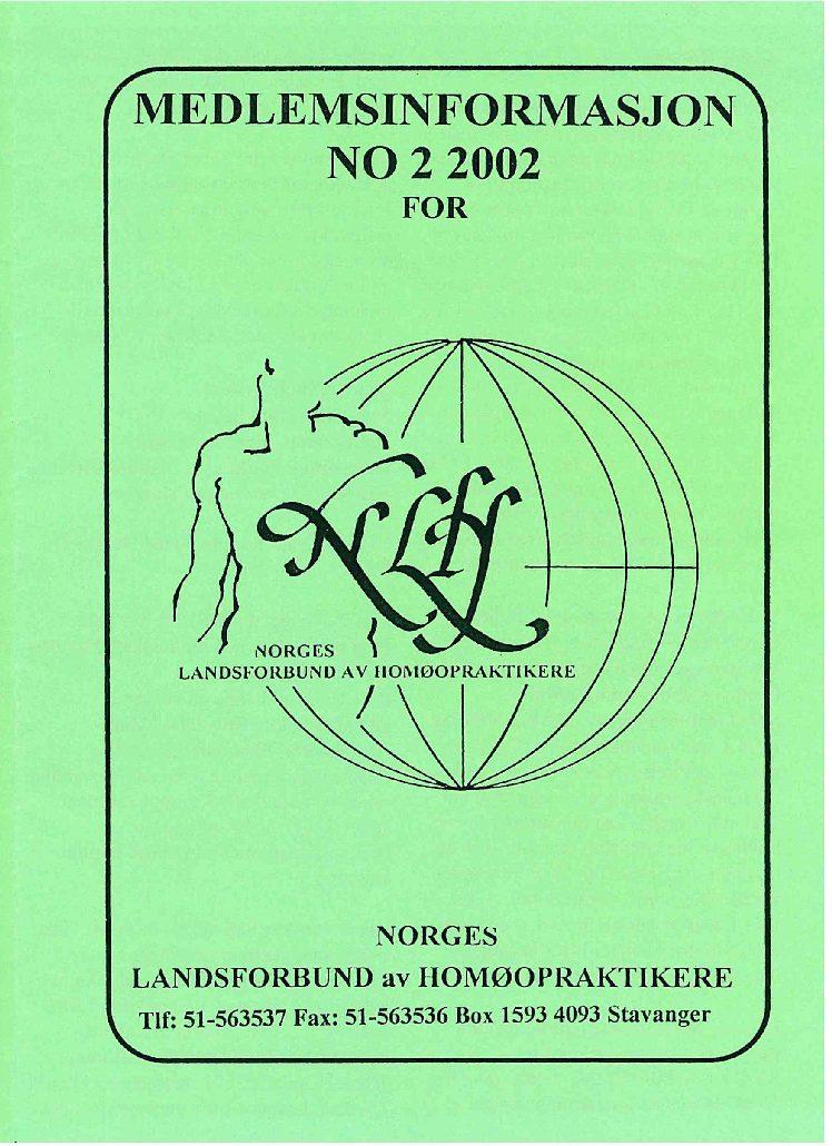 Medlemsinfo nr. 2-2002