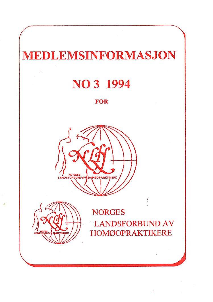 Medlemsinfo nr. 3-1994