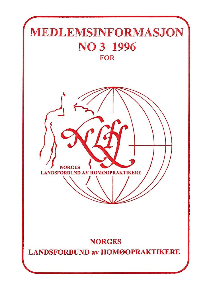 Medlemsinfo nr. 3-1996