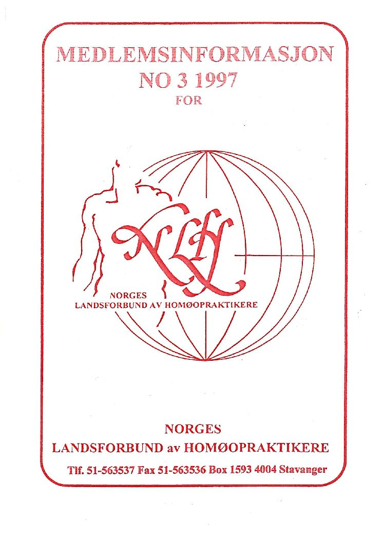 Medlemsinfo nr. 3-1997