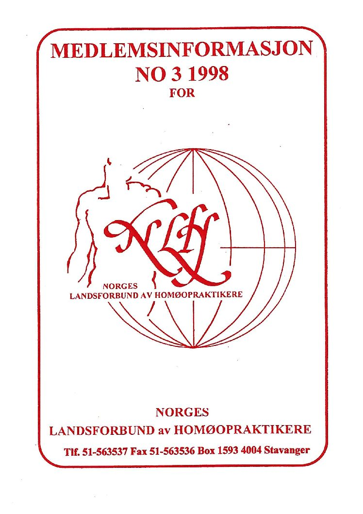 Medlemsinfo nr. 3-1998