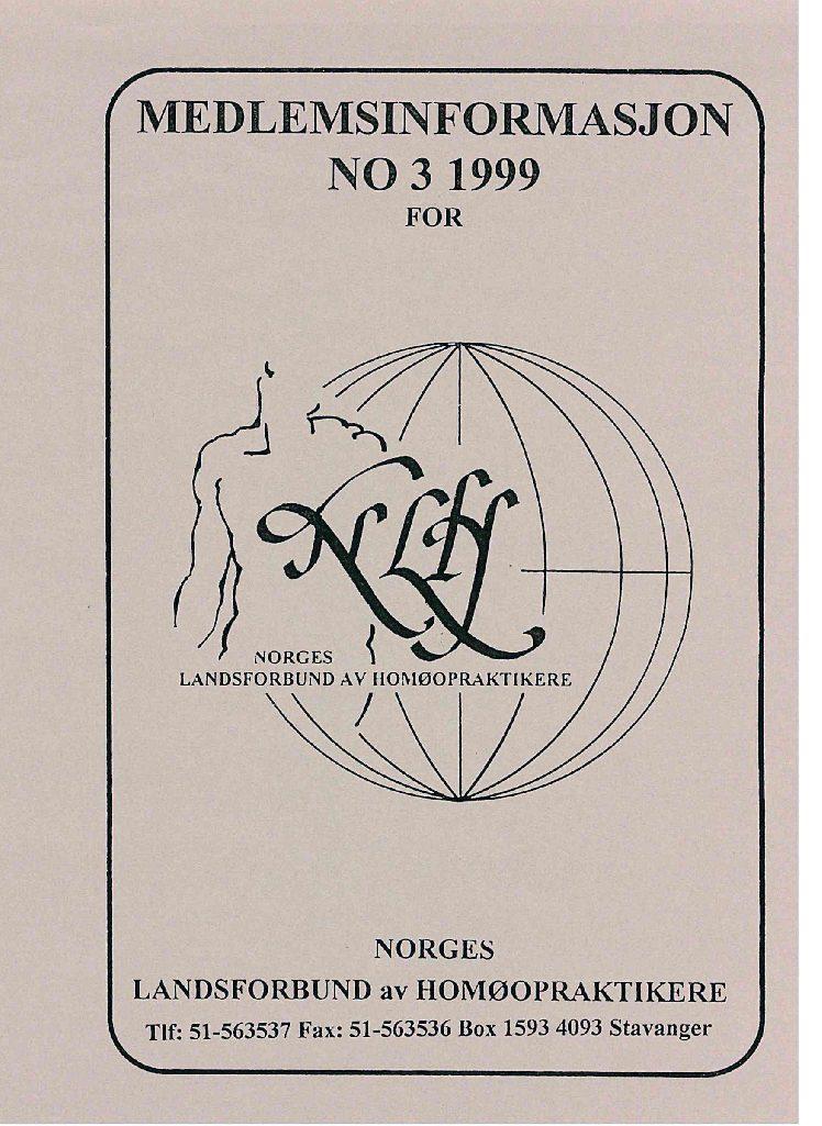 Medlemsinfo nr. 3-1999