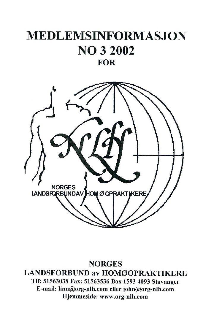 Medlemsinfo nr. 3-2002