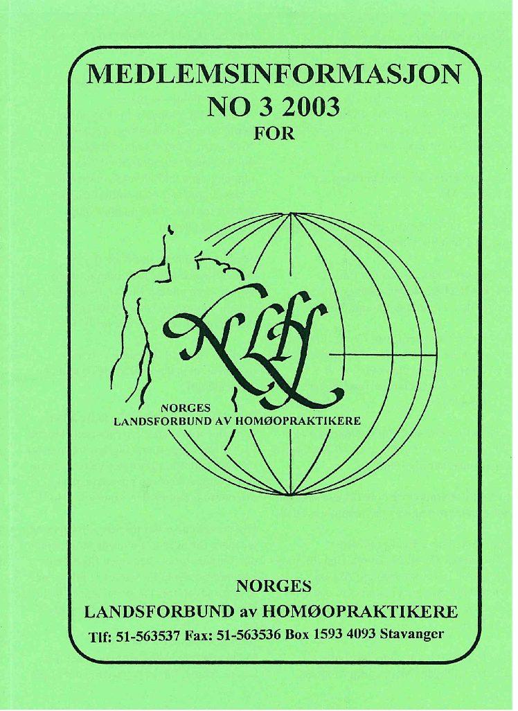 Medlemsinfo nr. 3-2003