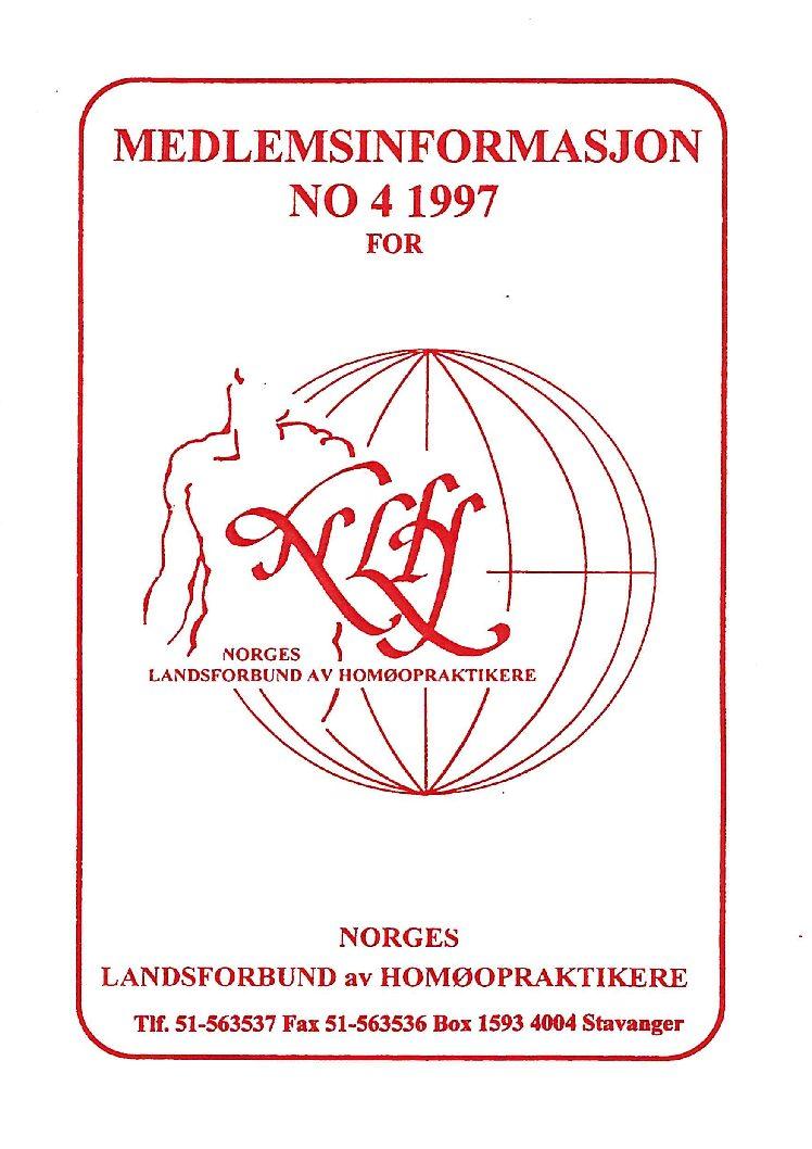 Medlemsinfo nr. 4-1997