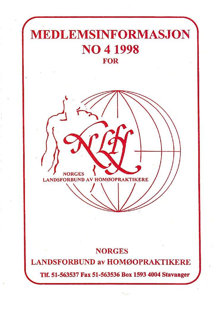 Medlemsinfo nr. 4-1998