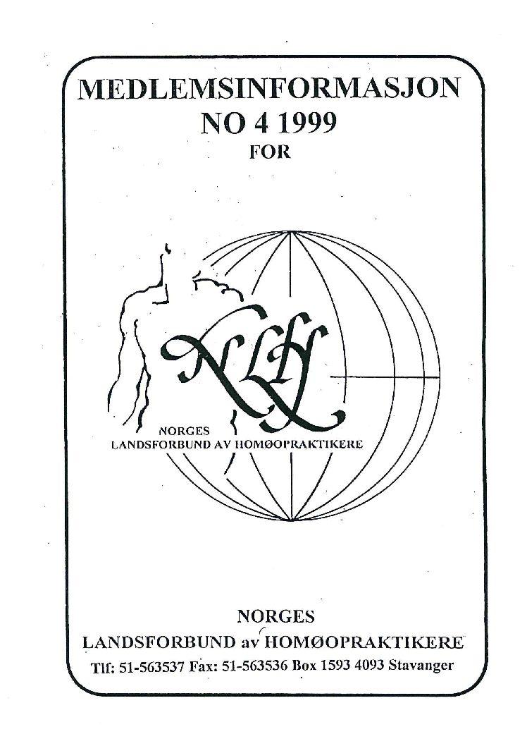 Medlemsinfo nr. 4-1999