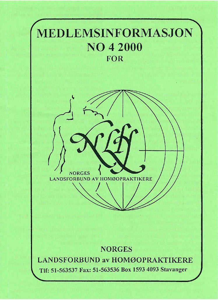 Medlemsinfo nr. 4-2000
