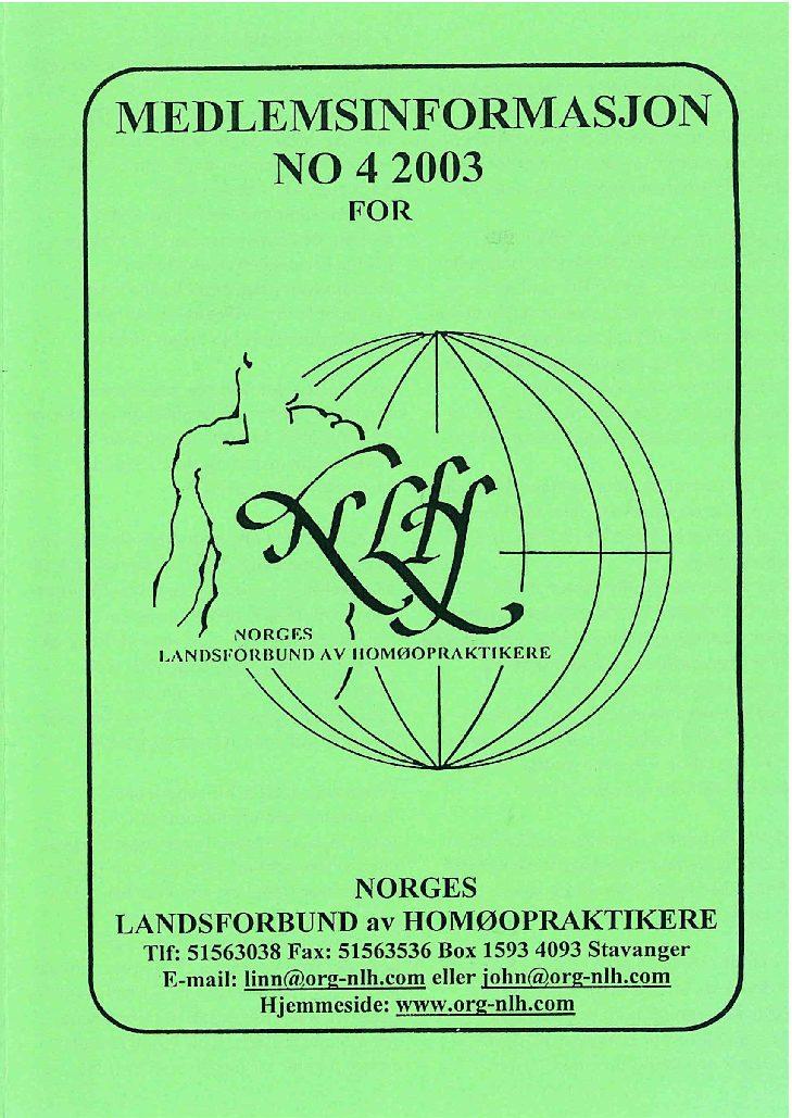 Medlemsinfo nr. 4-2003
