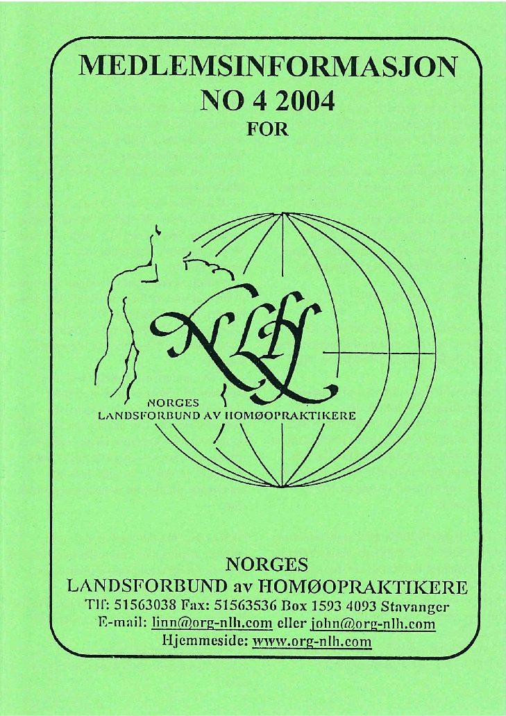 Medlemsinfo nr. 4-2004