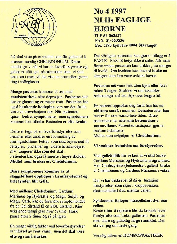 Faglig Hjørne nr. 4-1997