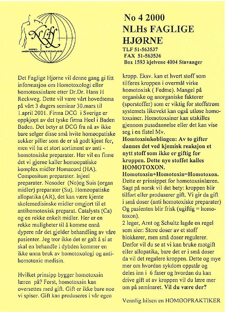 Faglig Hjørne nr. 4-2000