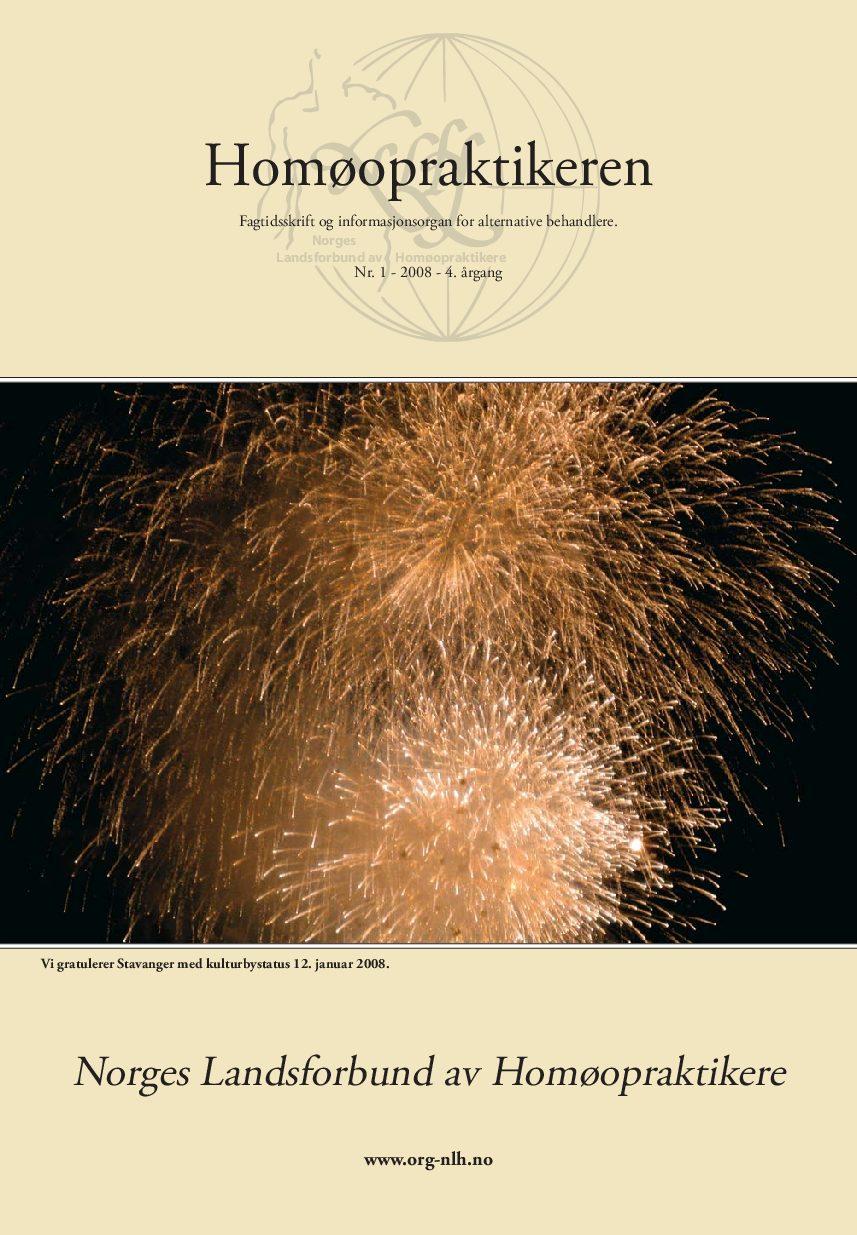 Homøopraktikeren nr. 1-2008