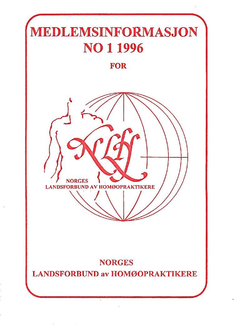 Medlemsinfo nr. 1-1996