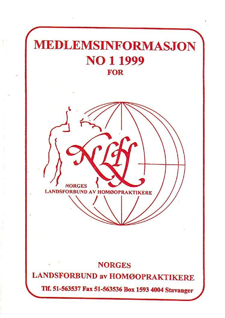 Medlemsinfo nr. 1-1999