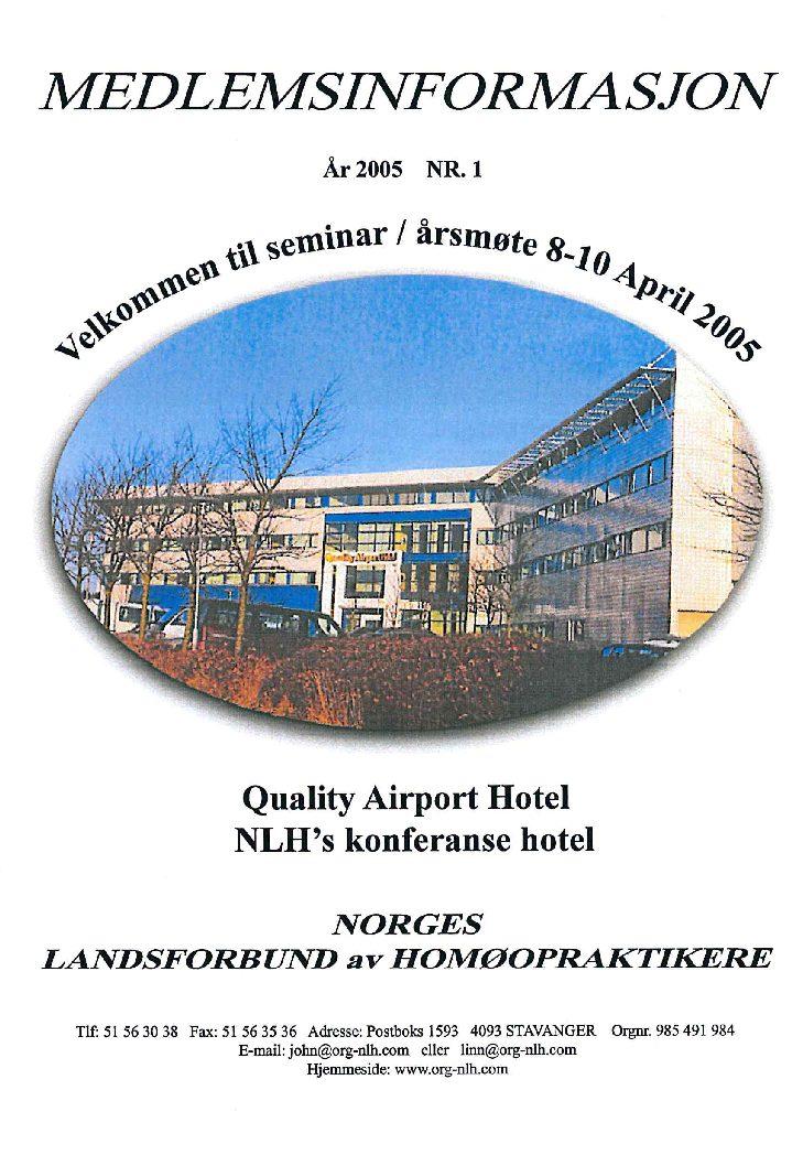 Medlemsinfo nr. 1-2005