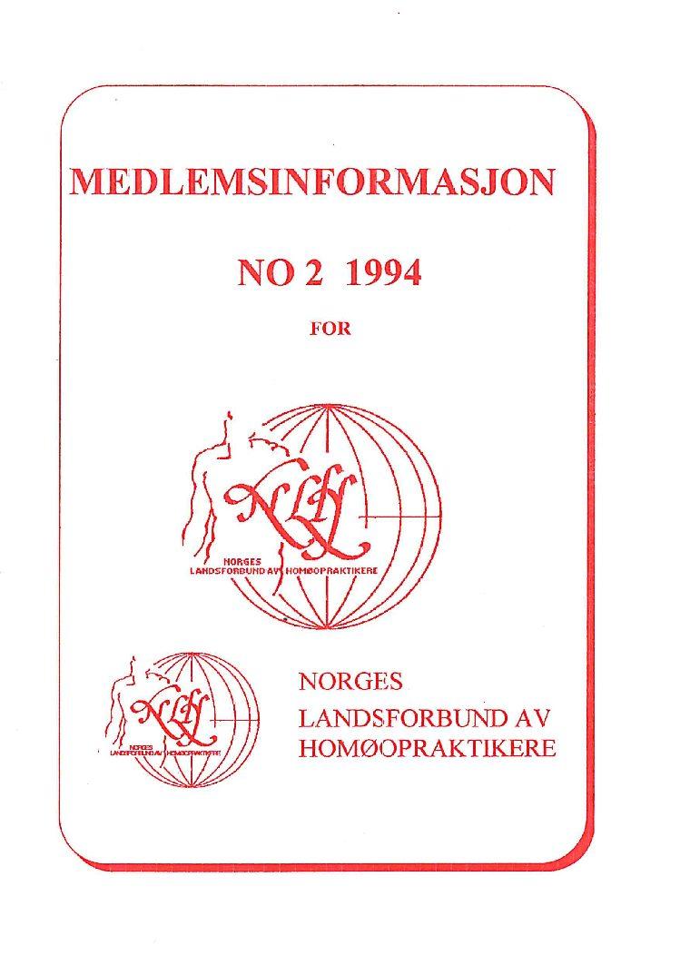 Medlemsinfo nr. 2-1994