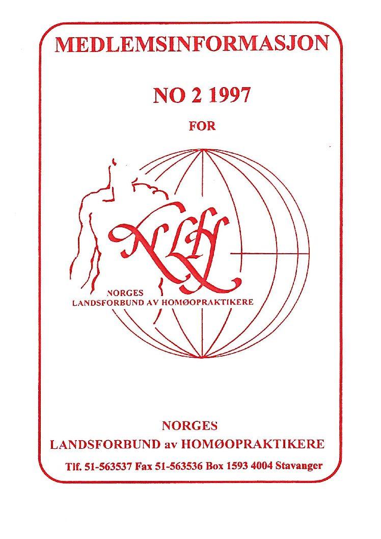 Medlemsinfo nr. 2-1997