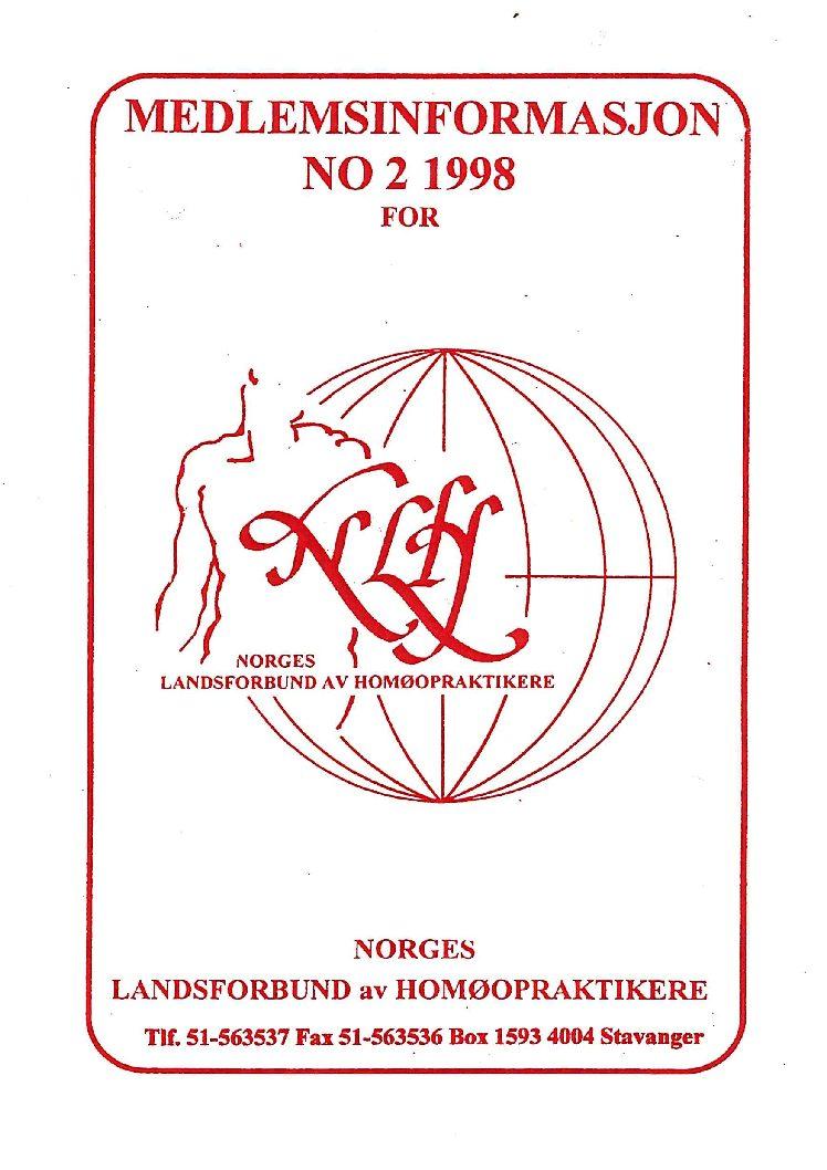 Medlemsinfo nr. 2-1998