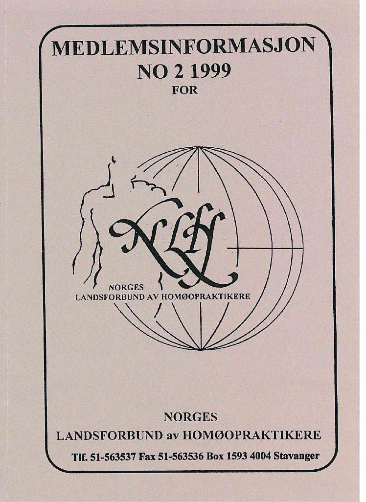 Medlemsinfo nr. 2-1999