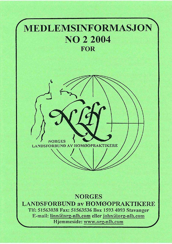 Medlemsinfo nr. 2-2004