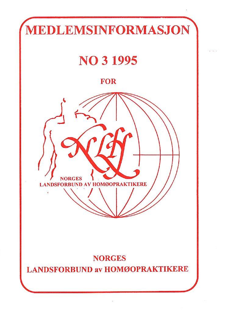 Medlemsinfo nr. 3-1995