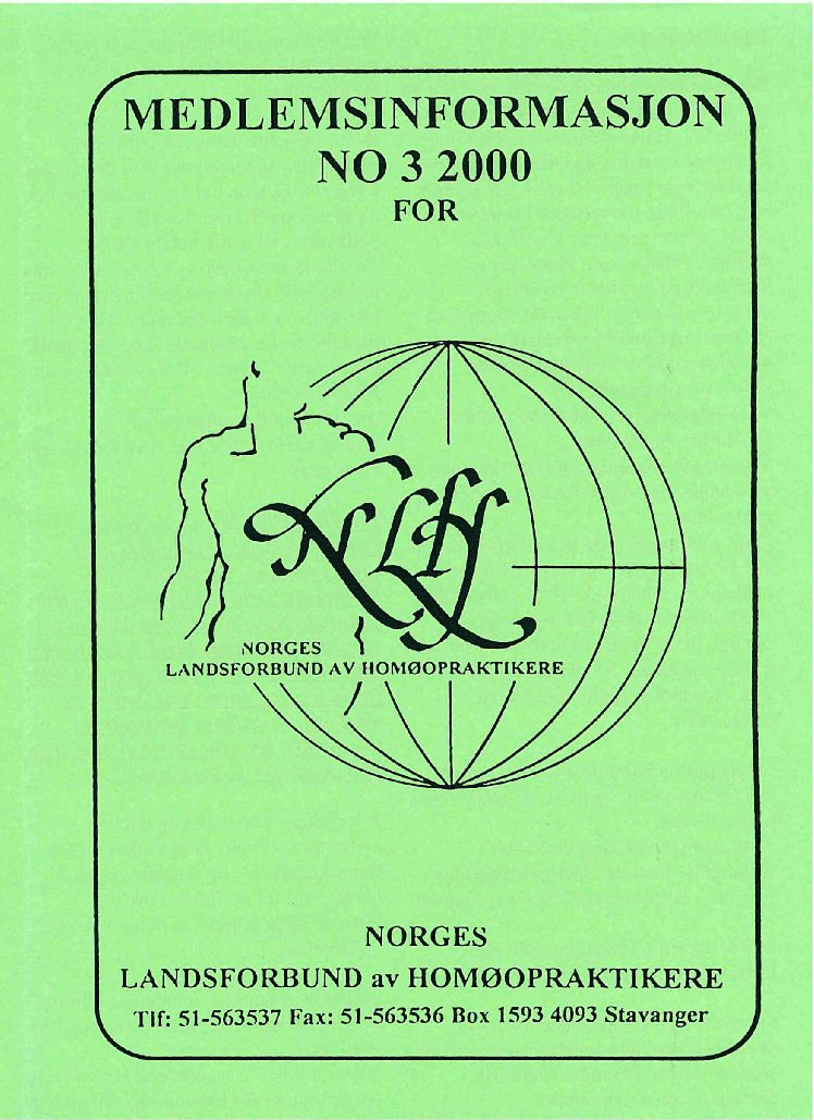 Medlemsinfo nr. 3-2000