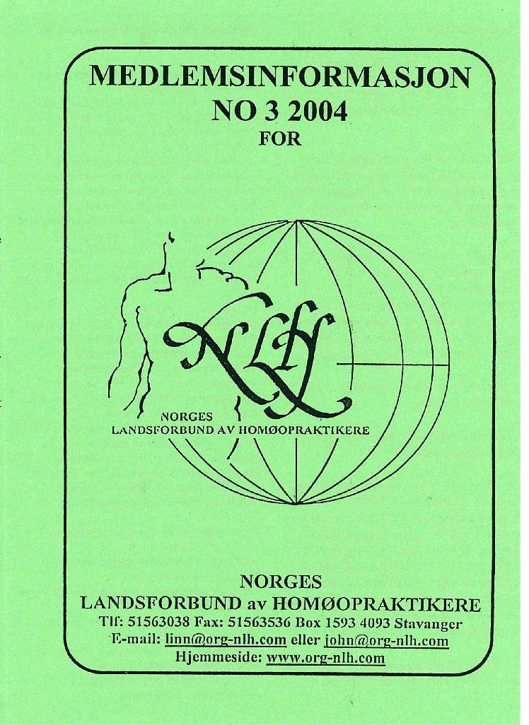 Medlemsinfo nr. 3-2004