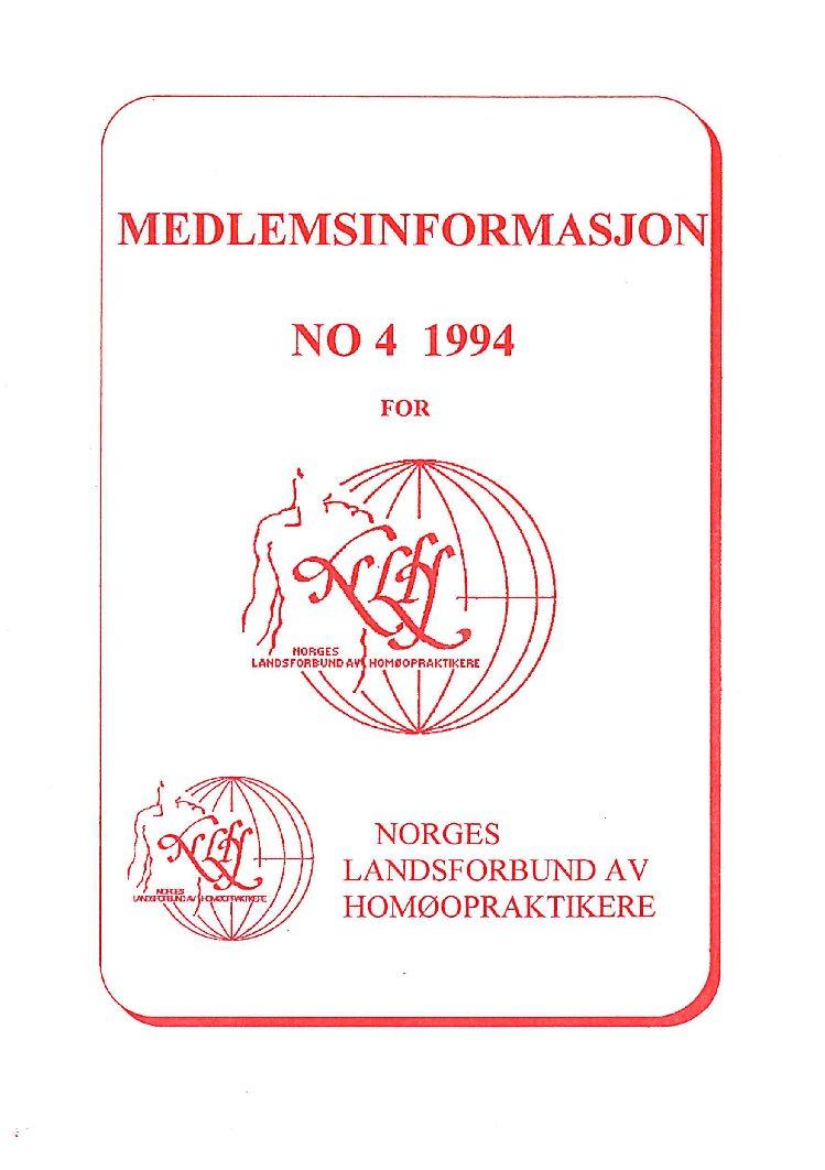Medlemsinfo nr. 4-1994
