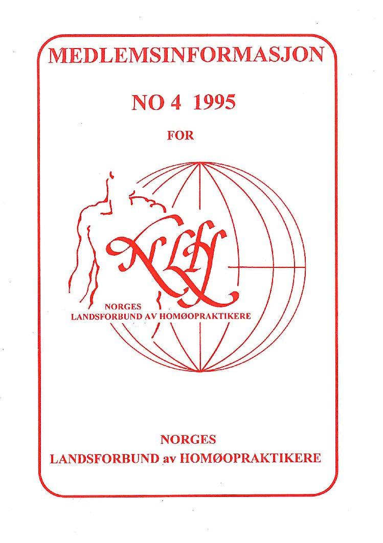Medlemsinfo nr. 4-1995