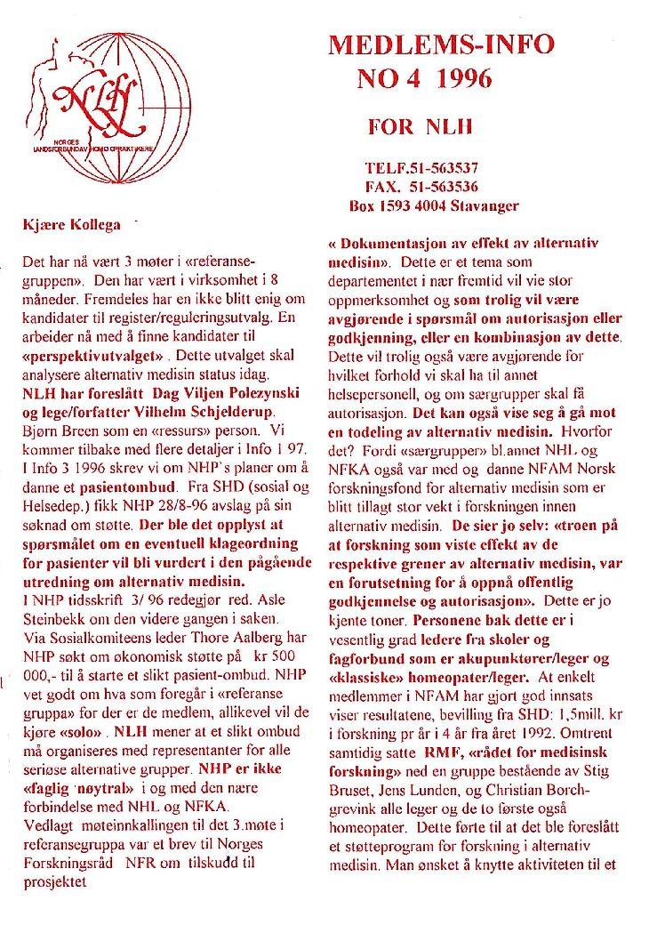 Medlemsinfo nr. 4-1996